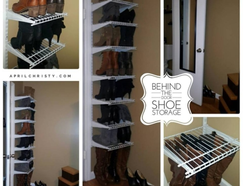 Hidden Shoe Storage Behind Door