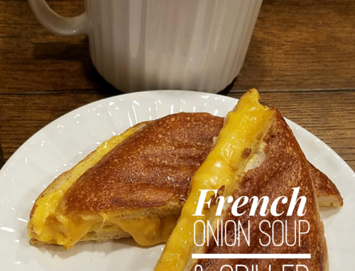 French Onion Soup and Grilled Cheese Panini